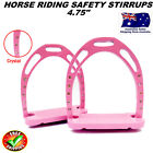 HORSE SAFETY SADDLE STIRRUP RIDING ALUMINUM IRONS WITH TREADS CRYSTALS/DIAMANTE