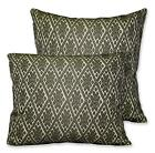 HC Lt.Olive Turquoise Dk.Olive Beige Diamond Jacquard Cushion Cover/Pillow Case
