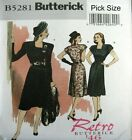 Butterick Retro Sewing pattern 5281 1940s War Years Swing Dress Choose size