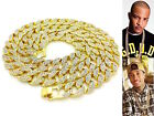 ICED OUT LAB DIAMOND GOLD FINISH MIAMI CUBAN LINK CHAIN 20, 24, 30 ,36 INCHES