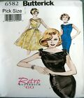Butterick Sewing Pattern 6582 Retro 60s Ladies Rockabilly Wiggle Dress Pick Size