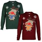 Tokyo Laundry Mens Womens Ladies Cute Reindeer Christmas Jumper Sweater