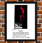 Framed The Godfather Vito Corleone Movie Film Poster A4 / A3 Size In Black Frame