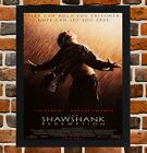 Framed The Shawshank Redemption Movie Poster A4 / A3 Size In Black / White Frame