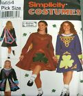 Simplicity Sewing Pattern 9654 Ladies Irish Applique National Dance Costume