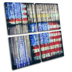 America New York Paint Grunge Urban MULTI CANVAS WALL ART Picture Print