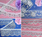 """Silver Lace Trim 10-24 Yards Scalloped 3/4""""-1-3/4"""" 026AV Your Choice"""