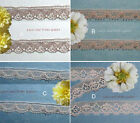 "Taupe Lace Trim 12-28 Yds Vintage Scalloped 3/8""-3/4"" 027AV Added Trims ShipFree"