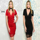 D96 Womens Mini Formal Wedding Cocktail Bodycon Sexy Lace Party Plus Size Dress