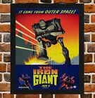 Framed The Iron Giant Movie Poster A4 / A3 Size In Black / White Frame