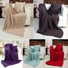 Miami Knitted Cotton Blanket Throw Sofa Bed Soft Luxury Warm 127cm x 152cm