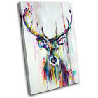 Stag Deer Vintage Shabby Chic Animals SINGLE CANVAS WALL ART Picture Print