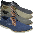 MENS CANVAS CASUAL LACE UP FASHION BOOTS GENTS DESERT TRAINERS BOYS SHOES UK