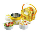 New Thermos Insulated Lunch Box with Carry Tote Bag Kids School Thermal Food Jar