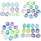12x Mix Color Acrylic Snail Spiral Horn Taper Stretcher Ear Plugs Stretching Kit