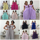 1 DRESS - 2 Shoulder Bridesmaid Wedding Prom Party Evening Maxi Dress Charlotte