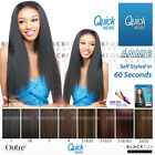 ANNIE OUTRE QUICK WEAVE SYNTHETIC HAIR HALF WIG LONG YAKY STRAIGHT