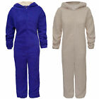 Ladies Womens Soft Faux Sherpa Hooded Onesie All In One Sleepsuit Sizes S/M M/L