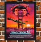 Framed Star Trek The Voyage Home Movie Film Poster A4 / A3 Size In Black Frame on eBay