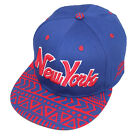 State Property New York Aztec Blue Red Ajustable Snapback Flat Peak Cap Hat