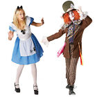 Adult Alice in Wonderland Or Mad Hatter Couples Fancy Dress Costume Party Outfit