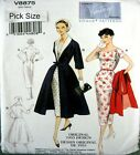 Vogue Sewing Pattern 8875 Vintage Model Ladies 50s Wiggle Coat Dress Pick Size