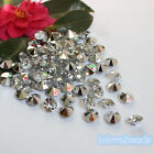10mm 4CT Clear Silver Acrylic Diamond Confetti Wedding Party Table Scatters