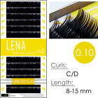 LENA Black Pearl 0.10 Faux Mink Individual Eyelash Extensions with Matte Finish