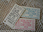 10 Kraft Cream Gift Tags Personalised Wedding Favour 1st drink Tickets Tokens