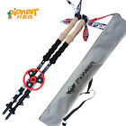 1pc Carbon Fiber Alpenstock Lightweight Trekking Hiking Walking Sticks Poles U20