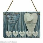 Personalised Our Family Tree Many Hearts Plaque Shabby Chic Sign Children Plank
