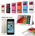 CUSTODIA MAGNETICA COVER FLIP LIBRO VIEW PER SMARTPHONE APPLE IPHONE 5 / 5G / 5S