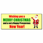 Wishing Merry Christmas Happy New Year! 13 Oz Vinyl Banner Sign With Grommets $224.99 USD on eBay