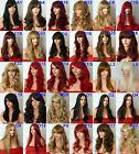 Women Long Hair Full Wig Curly Wavy Heat Resist Synthetic Party Wigs look Real