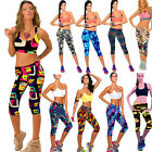 Women High Waist Fitness YOGA Sport Pants Print Stretch Cropped Leggings Gym How