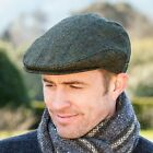 Donegal Tweed Cap - Green, Made in Ireland by Mucros Weavers - TWC240G