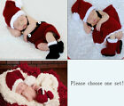100% hand knitted Baby Christmas Costume Santa Claus photo Photography Props
