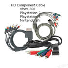 HD RGB Component AV Cable Lead for PlayStation PS3, xBox 360 Nintendo Wii, Wii U