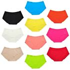 Women's 6 Pairs Seamless Laser-cut Soft Rise Invisibles Hipster Panties