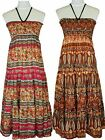 NWT Women Crinkle Tiered Layered Smocked Maxi Summer Dress by Jon & Anna