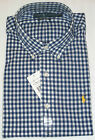 RALPH LAUREN LONG SLEEVE CUSTOM FIT NAVY & WHITE GINGHAM SHIRT - SIZE XL