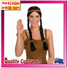 Wig Black Plaits Braids Indian Native American Princess Fairy Tale Pocohontas