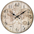Large Vintage Wooden Wall Clock Shabby C...
