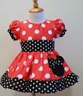 MINNIE MOUSE GIRLS DRESS PUFF SLEEVES DRESS 12M TO 6Y