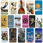 Football World Cup Historical Posters Flip Gift Case Cover iPhone 4 5 5s 6 6Plus