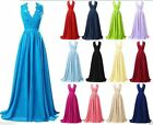 STOCK New Long Chiffon Formal Prom Party Ball Bridesmaid Evening Dress Size 6-22