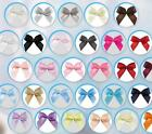 50pcs 9mm Mini Satin Ribbon Flowers Bows Gift DIY Craft Wedding Decoration