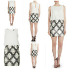 TFNC Michelle Cream Mini Dress with Sequin Skirt Size 10UK/6USA38EU/10AUS