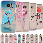 For Samsung Phones Fashion Clear Patterned TPU Soft Case Rubber Cover Slim Skin
