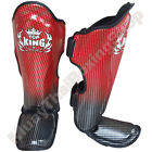 Top King Boxing Muay Thai Shin Guards Super Star TKSGSS-01 Red Size S-M-L.